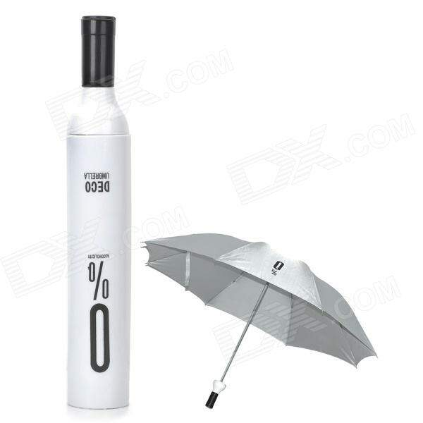 Guarda chuva Wine Bottle Alcoholicity Umbrella - White + Black + Silver Grey