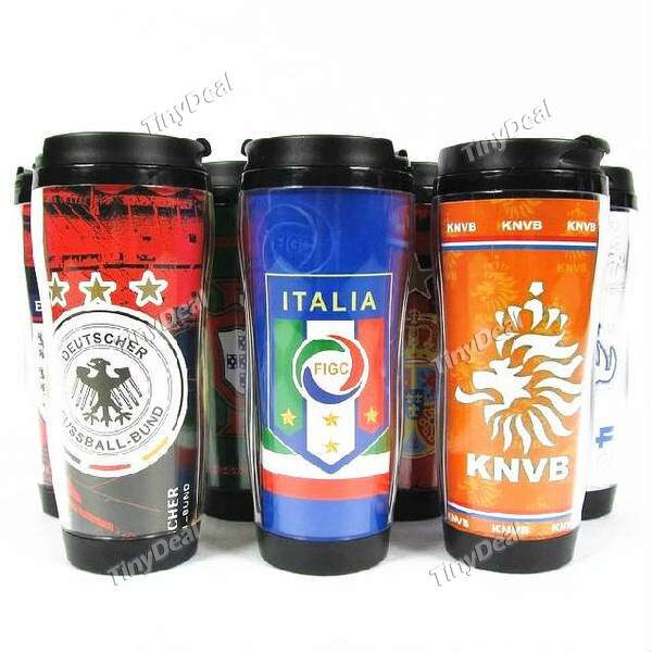 2014 Brazil World Cup Team Logo PP PVC 350mL Double Layer Portable Insulated Cup for Fanatical Fans SWB-296339