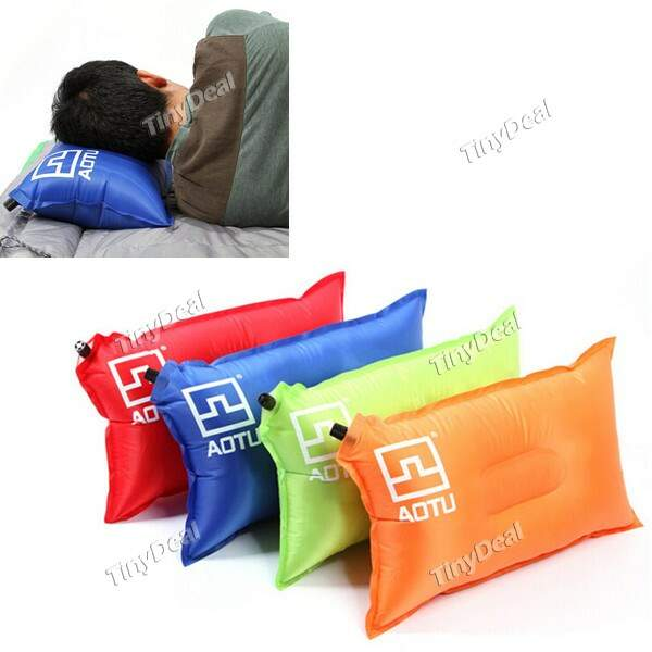 Outdoor Automatic Inflatable Folding Wearable Camping Pillow Adormecida SCH-315753