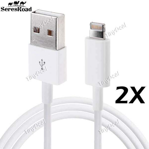 2 x SeresRoad 1M relâmpago para USB relâmpago Cable para Apple iPhone 5s 5c 5 iPad Air iPad Mini 2 Mini 4 KB-325155