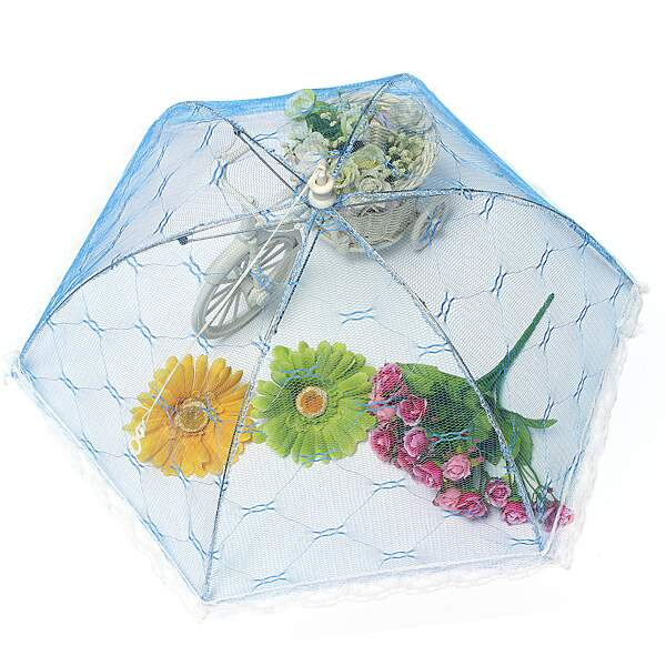 Lace malha Net Tenda Umbrella Food Covers