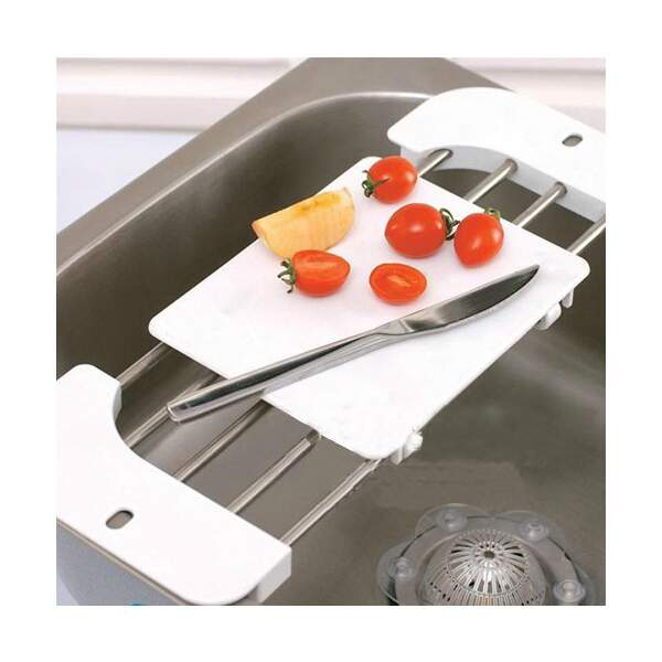 Retrátil de aço inoxidável Sink Shelf Chopping Block