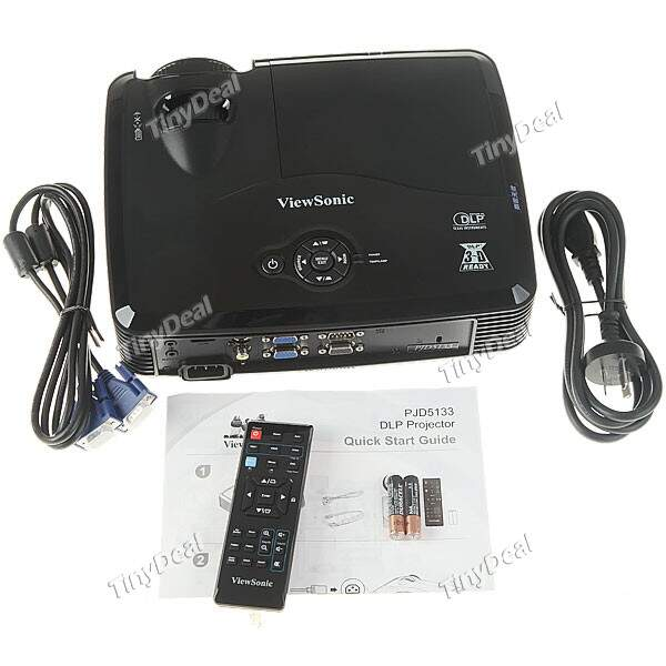 (VIEWSONIC) PJD-5133 Portable Palm Sized LED Projector with USB + SD Card Slot