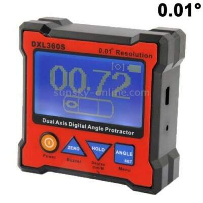DXL360 S 0.01 Degree Digital Protractor Inclinometer Level Box(Red)
