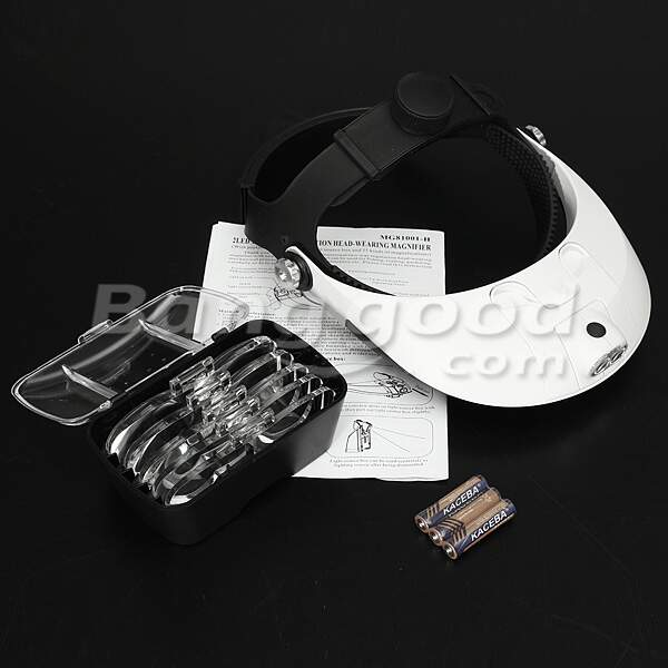 LED Headband Head Light Lupa Lupa Lupa 5 Lens