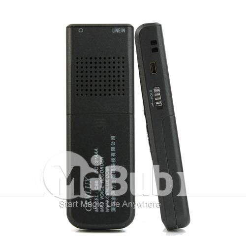 2GB Mini Digital Voice Recorder and Telephone & Com MP3 Player e Rádio FM e Alto-falante embutido
