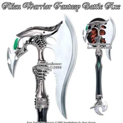 Estrangeiro Guerreiro Battle Axe Fantasia Com Dagger & Plaque