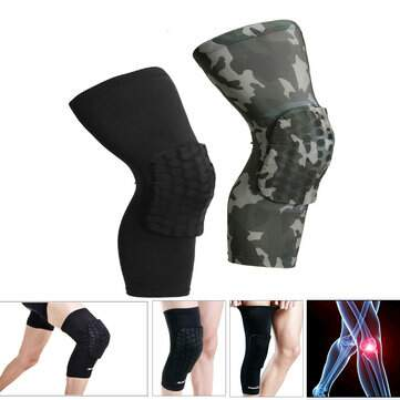 IPRee ? Esportes Honeycomb Kneepad perna manga longa Crashproof Antislip Basketball Protector Gear