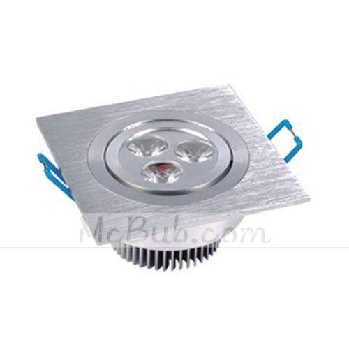 3W 90-100 Lumens Pure White LED Down Light / LED Luz de teto