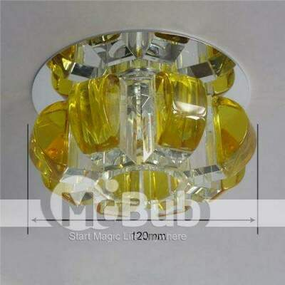 1W 90-260VAC Luz corredor Pure White Crystal LED Down Light LED Luz Teto Lâmpada interior decorativa