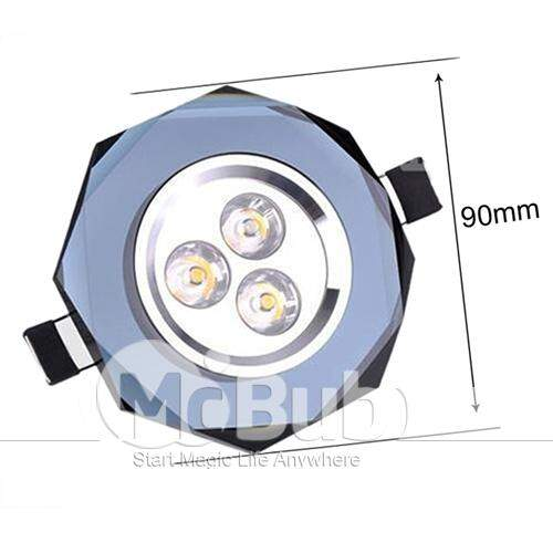 Led 3W teto Down Light High Power Luz Cristalina Quente
