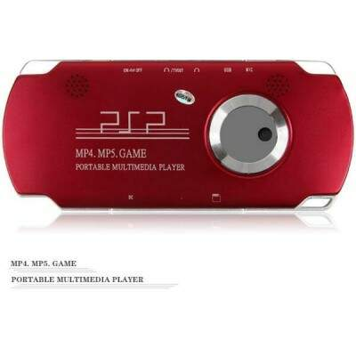 MP5 Player / Game Console + Música + Filme + FM + Gravador + Calendário + Alarme + Foto + Ebook TV-out