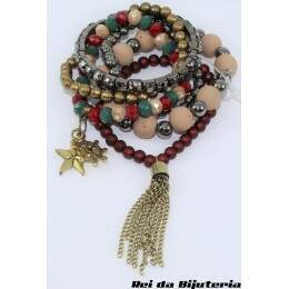 PS4665 - Kit Pulseira Bijuteria PHD Moda Blog - M7 (Cores Sortidas)