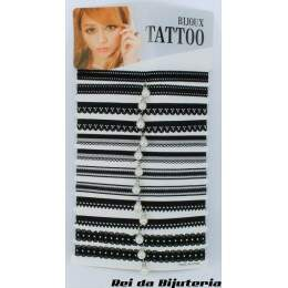 CL3917 - Cartela com 12 Coleiras Tatoo - M1
