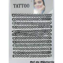 CL3919 - Cartela com 12 Coleiras Tatoo - M3