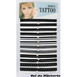 CL4134 - Cartela com 12 Coleiras Tatoo - M5