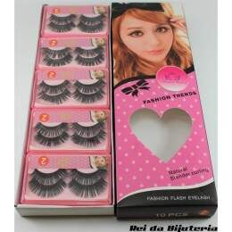 AC0866CX - Caixa com 10 Pares de Cílios Postiços Fashion Flash Eyelash - M1