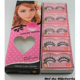AC0868CX - Caixa com 10 Pares de Cílios Postiços Fashion Flash Eyelash - M3