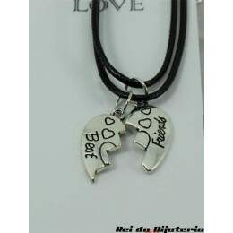 CL4397 - 2 Colares Bijuteria Fashion Best Friends - M9