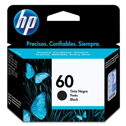 CARTUCHO ORIGINAL HP 60 PRETO