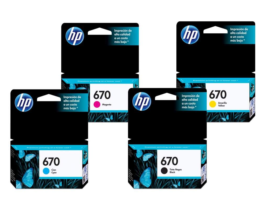 CARTUCHO ORIGINAL HP 670 CMYK