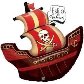 Balão Barco Pirata Pirate Ship Qualatex