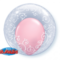 Deco Bubble Arabescos Fancy Filigree 24 polegadas Qualatex