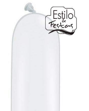 Balão de Látex 160Q White Branco Colors Qualatex