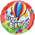 Balão Happy Birthday Hot Air Balloons Qualatex
