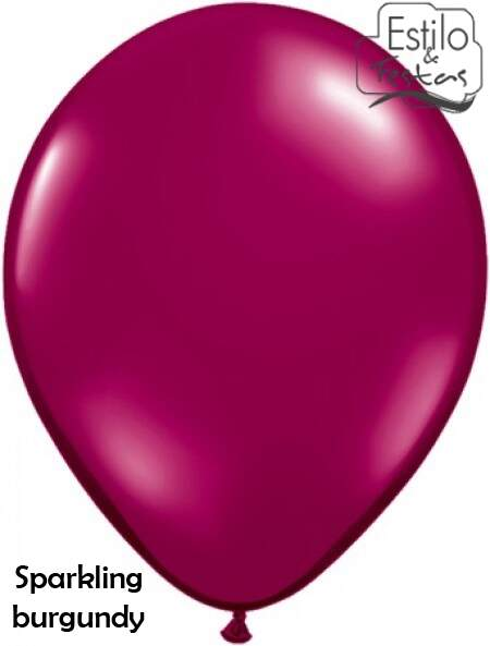 Balão Vinho Cristal Sparkling Burgundy Jewel Color Qualatex