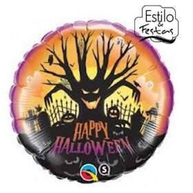 Balão Feliz Dia das Bruxas Happy Halloween Qualatex