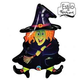 Balão Bruxa Maluca Wacky Witch Halloween Qualatex