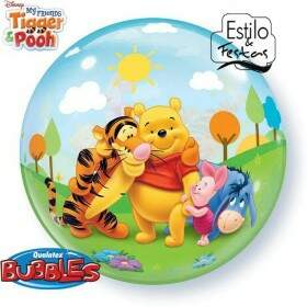 Bubble Meus Amigos Tigrão e Ursinho Pooh My Friends Tigger & Pooh Qualatex