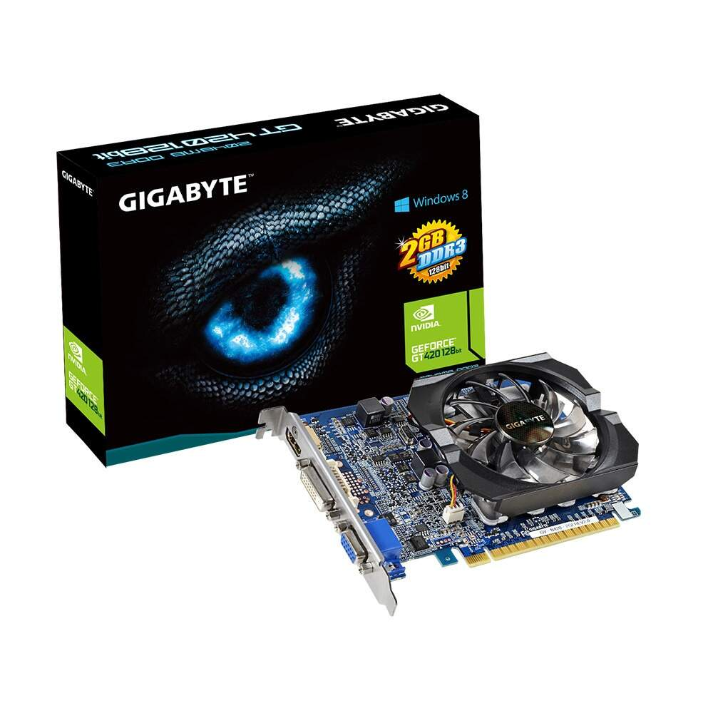 Placa de Video Nvidia Geforce Gt420 - 2gb - Ddr3 - 128 Bits - DirectX 11 c/ Hdmi - Gigabyte