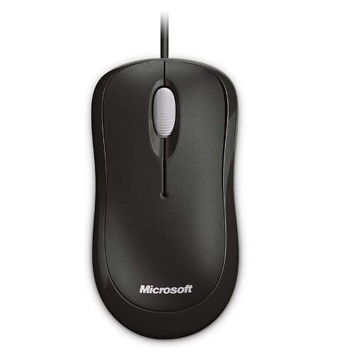 Mouse Microsoft Basic Optical Usb - Preto - Novo - Lacrado
