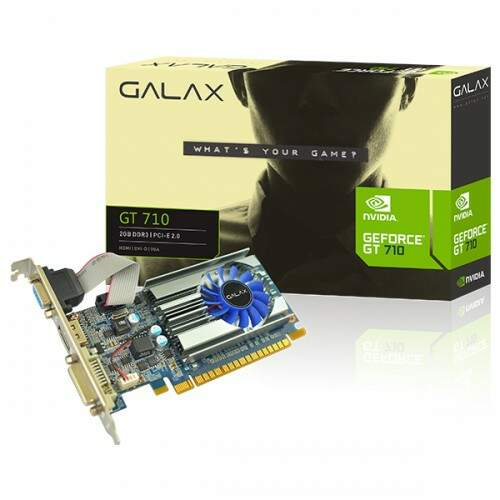 Placa Video Nvidia Geforce Gt710 1gb Ddr3 P/ Até 3 Monitores