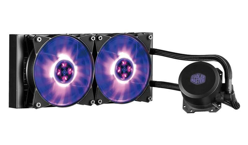 Water Cooler Radiador de 240mm para Processador - ML240L- Com LED RGB - Cooler Master