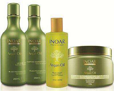 Inoar Professional Argan Oil Home Care KIT - 4 produtos