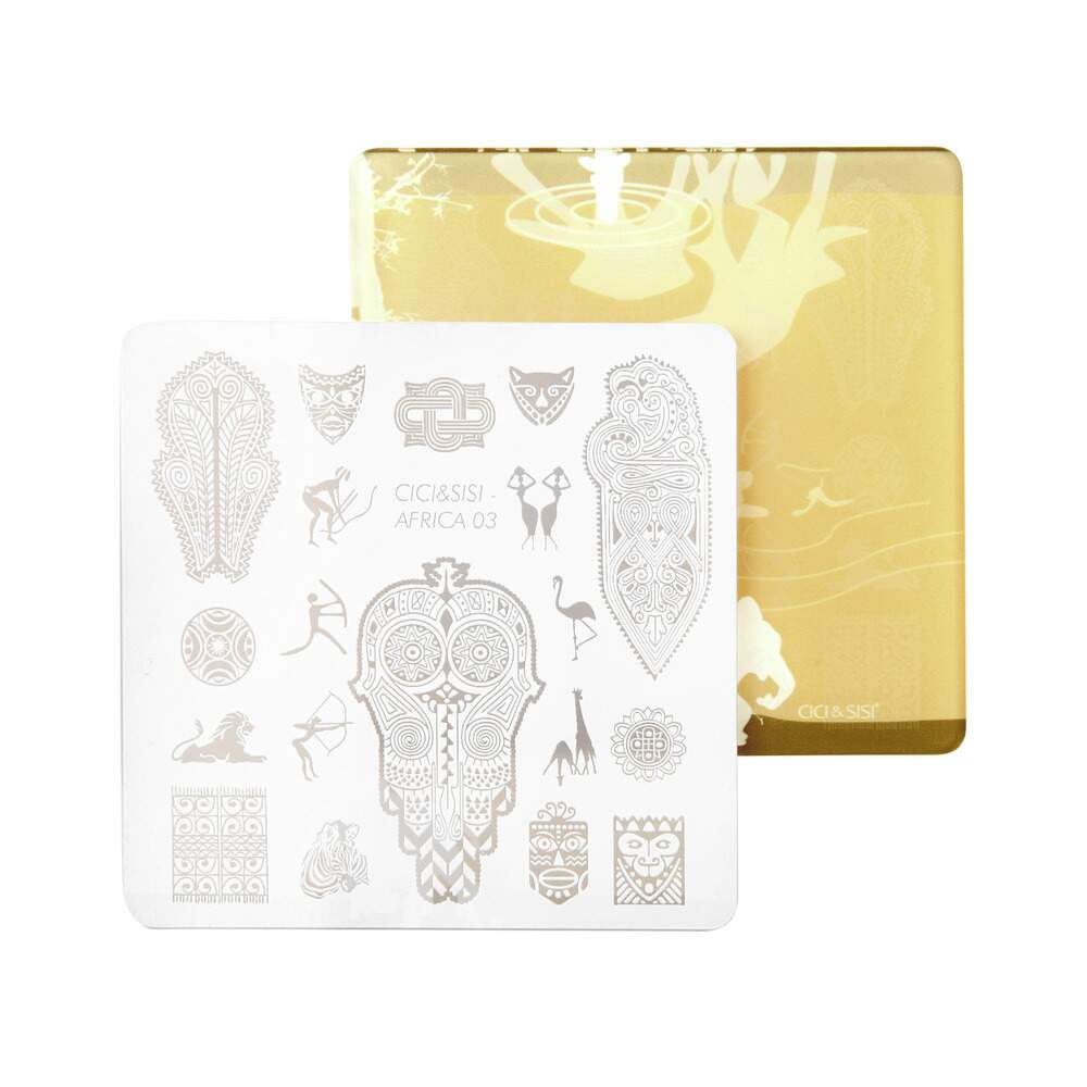 Acrylic Stamping Plate Kit (Africa 01-04)