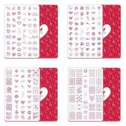 Acrylic Stamping Plate Kit (Love Valentines Day 01-04)