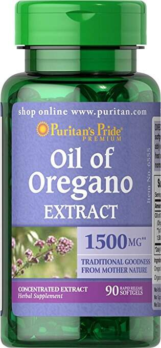Oil Of Oregano Extract 1500mg (90 softgels)