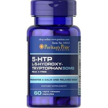 5-HTP L-5-Hidroxy-Tryptophan 50mg (60 capsules)