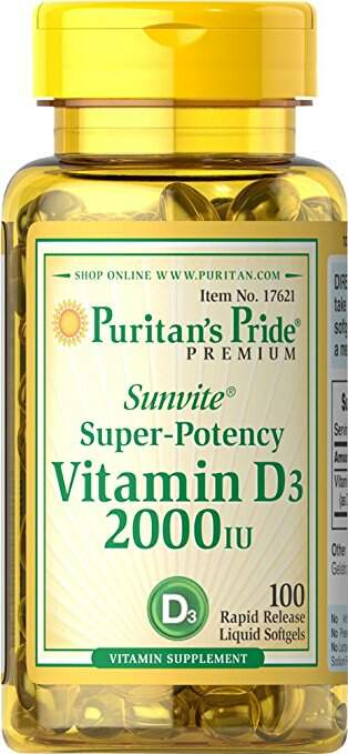 Vitamin D3 2000IU (100 softgels)
