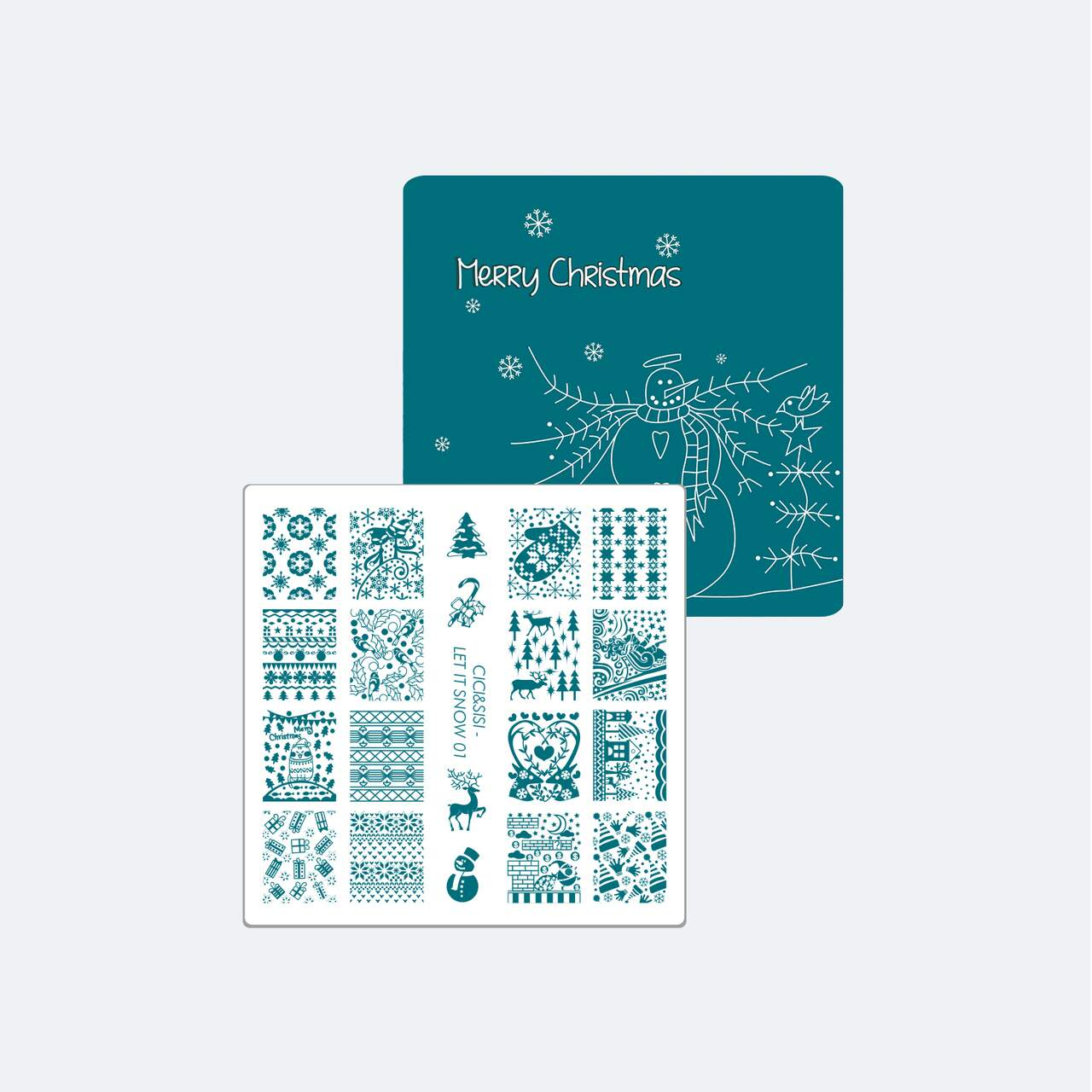 Acrylic Stamping Plate Kit (Let It Snow 01-04)