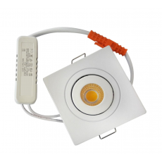 Mini Spot LED Downlight 2,5W Quadrada Articulado