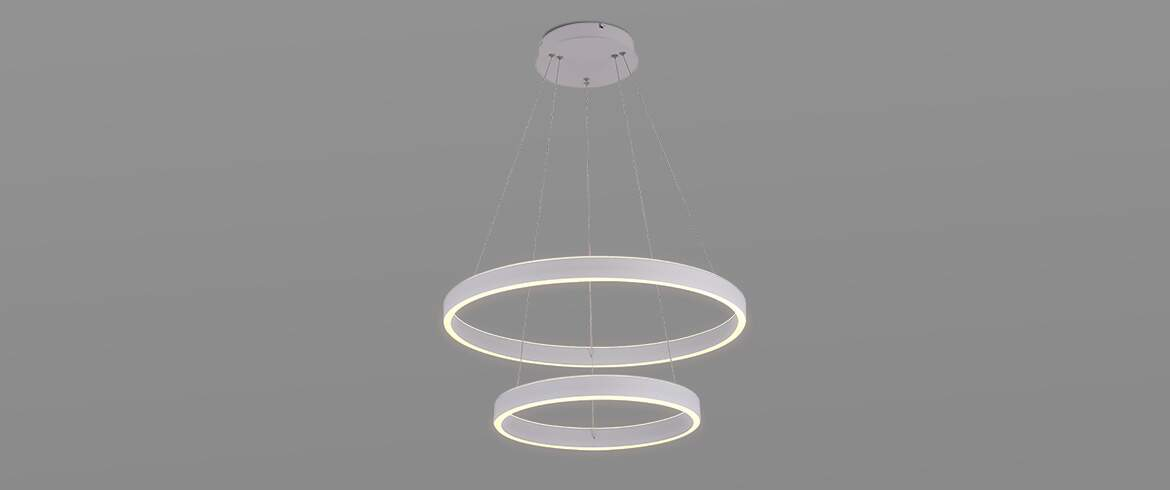 Luminária Pendente LED HALO Double 106W