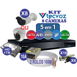 KIT DVR FLEX TECVOZ 8 CANAIS