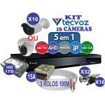 KIT DVR TECVOZ FLEXHD 16 CÂMERAS