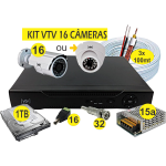 KIT DVR VTV AHD 16 CAMERAS