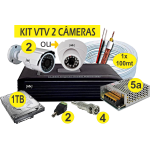 Kit DVR AHD VTV 2 Câmeras+HD1TB